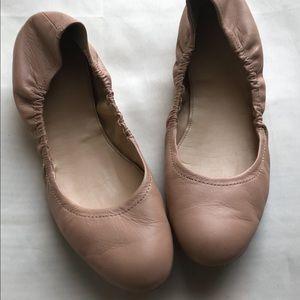 Cute J Crew Nude ballet flats size 8.5 EUC